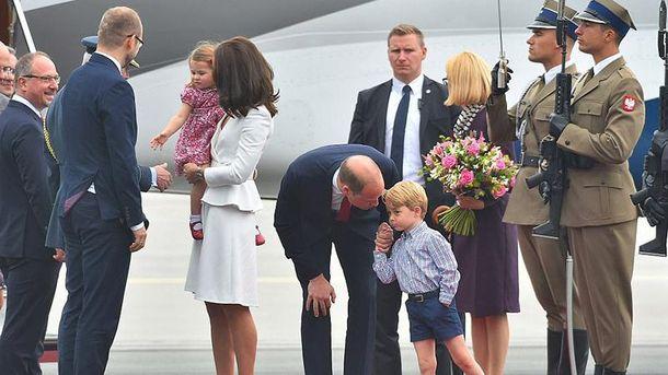 Принц Уильям и Кейт Миддлтон с детьми в Варшаве