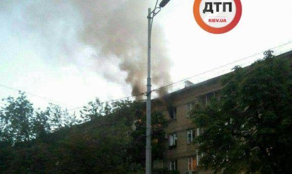 Пожар в жилом доме в Киеве