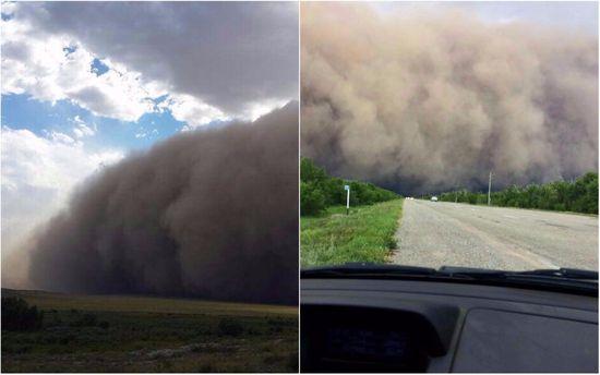 Ураган в Казахстане