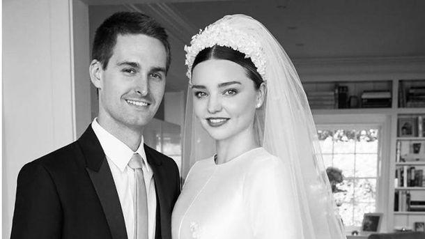 Весілля Міранди Керр і Евана Шпігеля