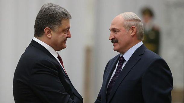 Петро Порошенко та Олександр Лукашенко
