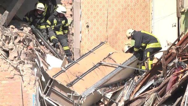 Разрушенный дом в Киеве