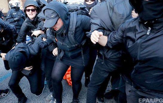 Протесты в Гамбурге во время саммита G20
