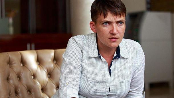 Народный депутат Надежда Савченко