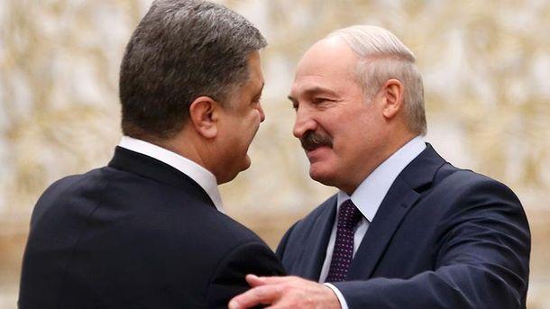 Петр Порошенко и Александр Лукашенко (Архивное фото)