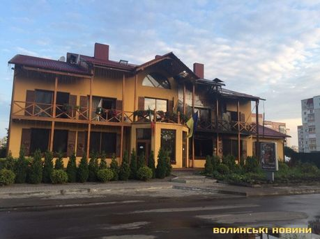 Появились детали пожара в гостинице в Луцке