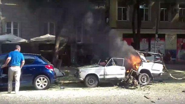 Взрыв автор в центр Одессе 24 июля