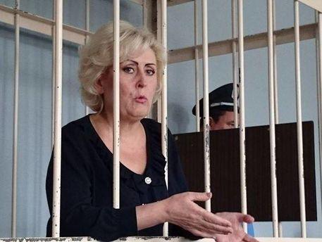 Неля Штепа у залі суду