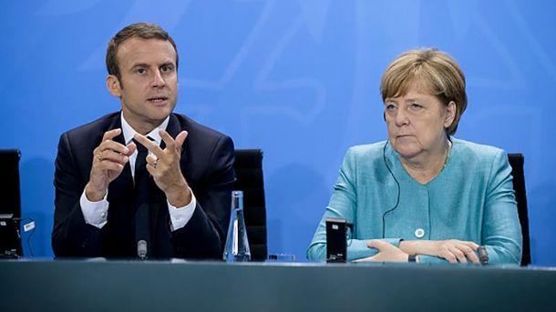 Емманюель Макрон і Ангела Меркель