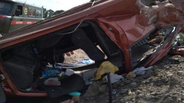Аварія під Києвом. Фото з місця подій