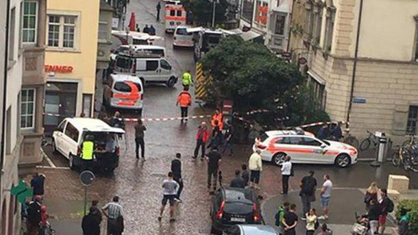 Нападение с бензопилой в Швейцарии. Фото с места событий