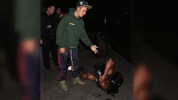 Джастин Бибер сбил журналиста