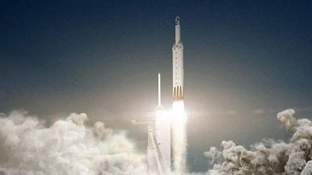Запуск надважкої ракети Falcon Heavy
