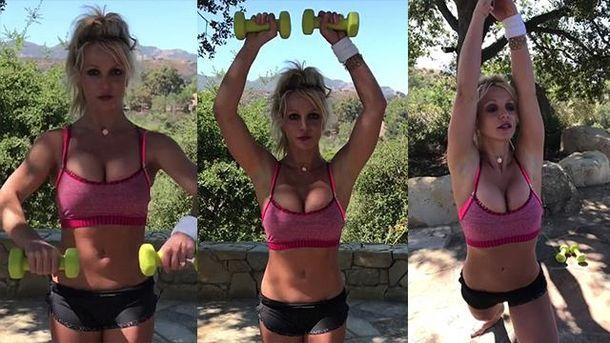 Брітні Спірз показала своє тренування