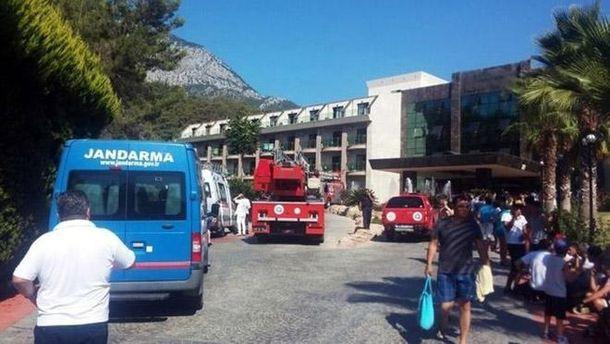 Пожар в гостинице в Турции