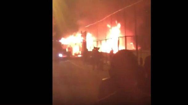 Мощный пожар в Одессе