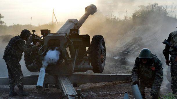 Обстрел со стороны террористов на Донбассе