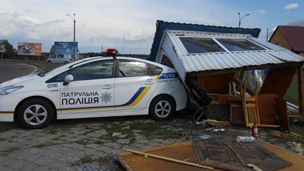Пост полиции был установлен на въезде в город Сарны