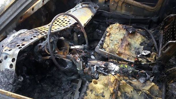 Спалений автомобіль журналіста у Харкові