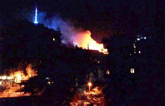 Пожар в Тбилиси