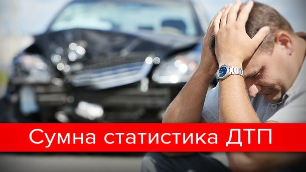 Щодня на дорогах України гине 7 осіб