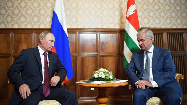 Путін зустрівся з Хаджимбою, лідером невизнаної Абхазії