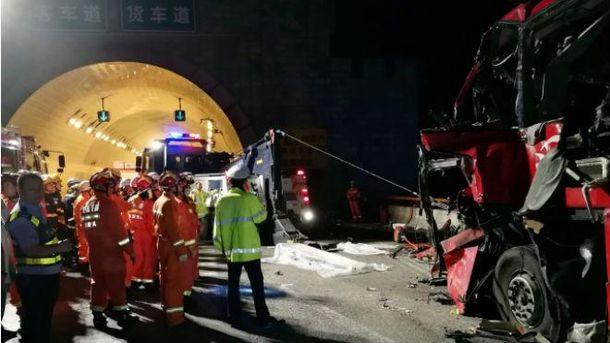 Масштабна аварія у Китаї