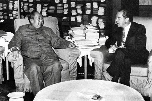 Ричард Никсон и Мао Цзэдун