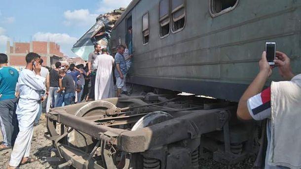 Авария на железной дороге в Египте