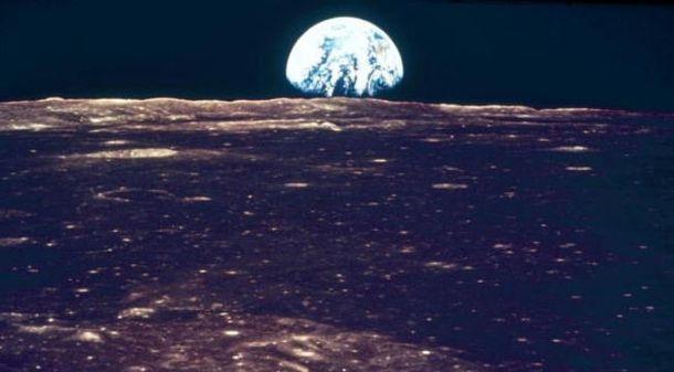 Как выглядит Земля с поверхности Луны
