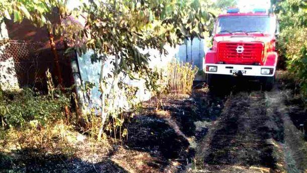 Пожар произошел в дачном кооперативе в Одесской области