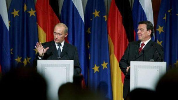 Шредера і Путіна називають близькими друзями