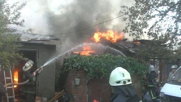 Пожежа в центрі Харкова