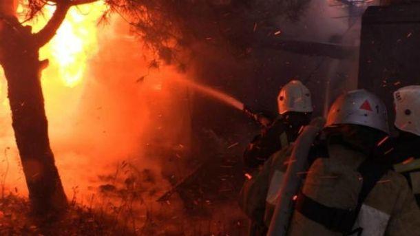 Пожежа на базі відпочинку у Криму