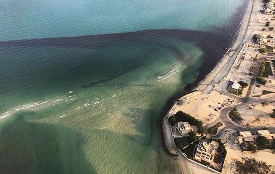 Витік нафти в море трапився біля берегів Кувейту