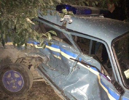 ВОдесской области нетрезвый шофёр протаранил полицейский ВАЗ, пострадал патрульный