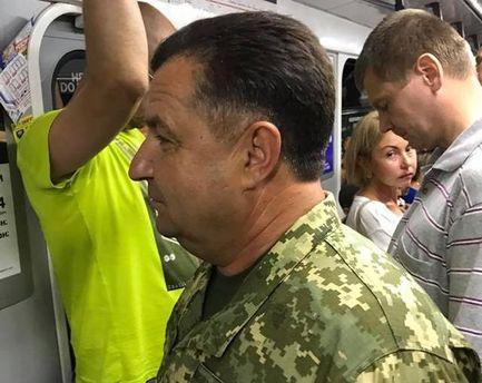 Міністр Полторак у метро