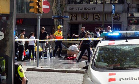 Россияне, по предварительным сведениям , непострадали при теракте вБарселоне