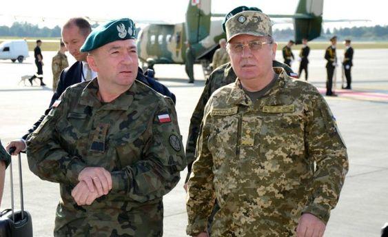 УЛьвові керівники Збройних сил України таПольщі обговорили російсько-білоруські навчання