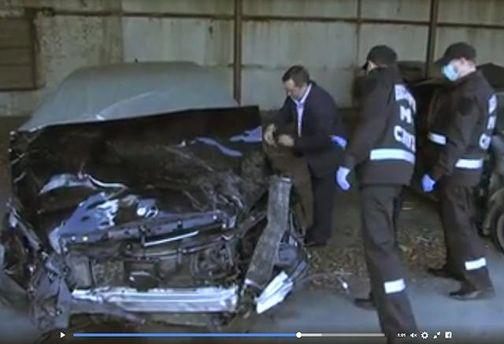 ДТП за участю авто Димінського: слідчі оглядають автомобіль