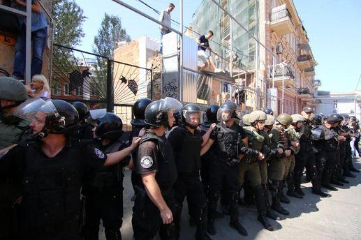 ВОдессе случилось столкновение между активистами иправоохранителями