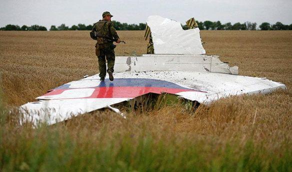 Обломки самолета Boeinh-777 рейса MH-17