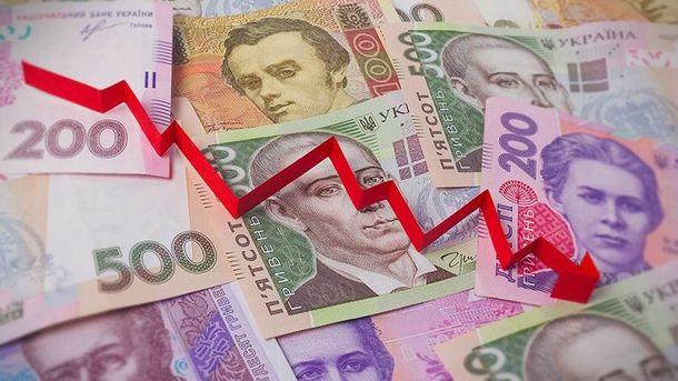 Курс гривны относительно доллара в Украине снова падает