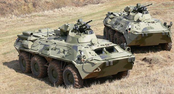 Российский БТР-82 сгорел от рук российского солдата