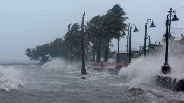 Во время мощного урагана