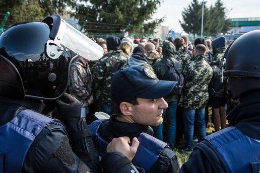Правоохоронці під час спроби Саакашвілі потрапити в Україну