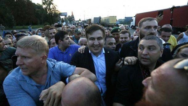 Саакашвілі разом з активістам