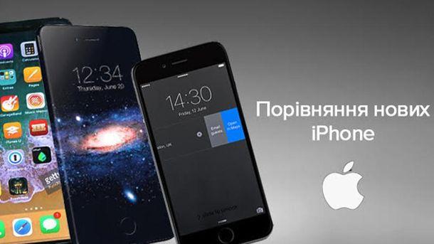 Порівняння iPhone 8, iPhone 8 Plus та iPhone X