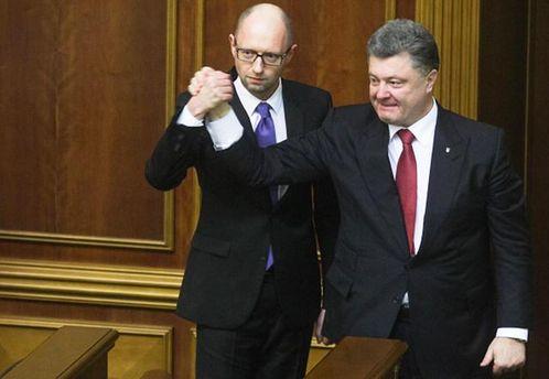Партии Порошенко и Яценюка планируют объединиться