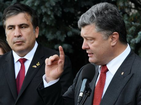 Михеил Саакашвили и Петр Порошенко